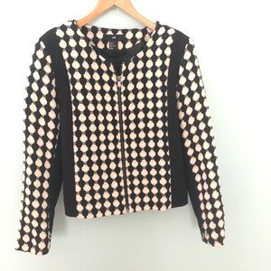 Jackets & Blazers - H&M's zip tweed jacket/sweater Size 8 NWOT lined